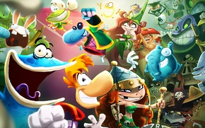 Обои Ubisoft, Ubisoft Entertainment, Rayman, Рэйман, Rayman Adventures