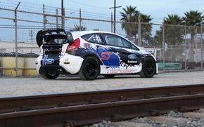 Картинка ford, fiesta, 2013, T.Foust, global-rallycross
