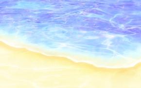Обои вода, берег, рисунок