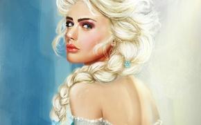 Картинка девушка, art, frozen, Elsa