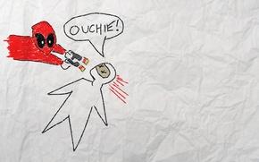 Картинка рисунок, убийство, Deadpool, Marvel, Дэдпул, movie, comics, Марвел