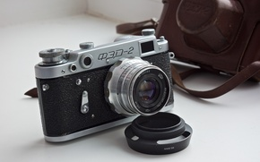 Картинка макро, фон, камера, FED-2