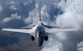 Обои T-50A, Lockheed Martin, учебно-боевой, самолёт, полёт