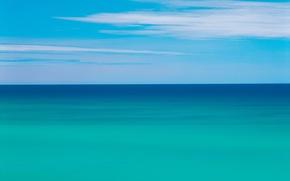 Обои море, облака, Горизонт, 151