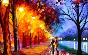 Обои любовь, масло, Рисунок, пара