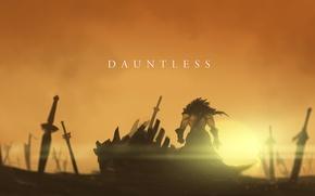 Картинка арт, мечи, Dota 2, Juggernaut, Yurnero, Nine-Bullet-Revolver, Dauntless