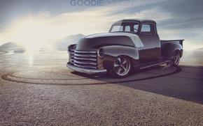 Картинка Авто, Chevrolet, Пустыня, Грузовик, Шевроле, 1954, Pickup, 3100, Goodie Design