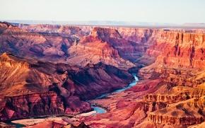 Картинка небо, горы, река, каньон, сша, Arizona, Grand Canyon