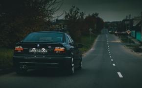 Картинка BMW, Седан, Чёрная, E39