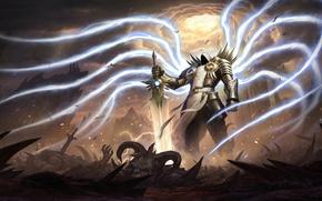 Картинка ангел, Diablo, Тираэль, мечь. воин, Tirael
