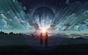 Картинка anime, 5 самтеметров в секунду, one more time one more chance