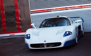 Картинка Maserati, Car, Перед, White, MC 12