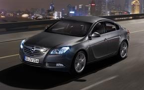 Обои ночь, Insignia, Opel