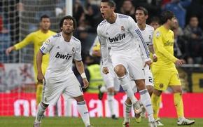 Картинка Cristiano Ronaldo, Real Madrid, Marcelo, Di Maria, 2010-2011