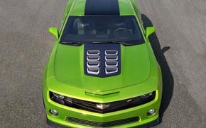 Картинка green, Chevrolet, концепт, Camaro, передок, камаро, Hot Wheels