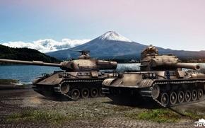 Картинка Танк, Мир танков, World of Tanks, Японский, WOT, Type 61