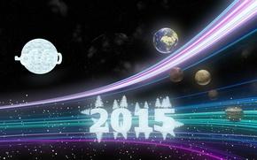 Картинка зима, снег, Новый год, snow, New Year, Happy, 2015