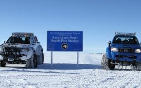 Картинка Toyota, hilux, arctic trucks, south pole, южный полюс