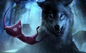 Картинка Красный, Лес, Волк, Electronic Arts, Вязаный, Coldwood Interactive, Unravel