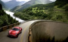Обои машины, мост, тачки, alfa romeo, auto, альфа ромео