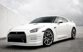Картинка Nissan, heels, gttr, whitew