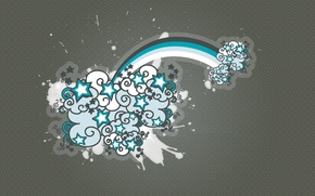 Картинка фон, узор, вектор, Звезды