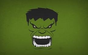 Картинка минимализм, Халк, Hulk, Marvel Comics, blo0p