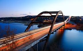 Картинка city, город, USA, Austin, Texas, Pennybacker_bridge, Loop360_bridge