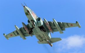Обои штурмовик, взлёт, Су-25УБ