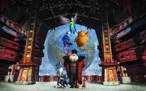 Обои Новый Год, Пасхальный кролик, Песочный человек, Ледяной Джек, Зубная фея, Санта-Клаус, мультфильм, DreamWorks, фэнтези, 2013, ...