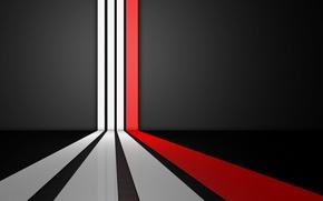Картинка белый, линии, красный, полосы, фон, черный, текстура