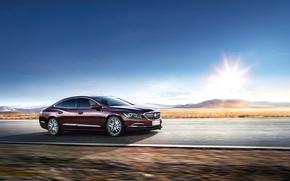 Картинка Небо, Авто, Дорога, Buick, LaCrosse, 2016, Металлик