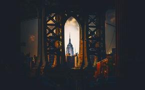 Картинка город, США, Нью Йорк, Эмпайр Стейт Билдинг
