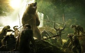 Картинка медведь, охота, Планета обезьян: Революция, Dawn of the Planet of the Apes