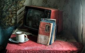 Картинка прошлое, книги, телевизор, ссср, быт, трагедия, тюрьма народов