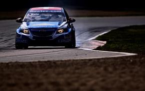 Картинка фон, обои, трасса, Chevrolet, гонки, автомобиль, Cruze, WTCC, мировой туринг, Alain Menu
