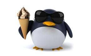 Картинка пингвин, character, funny, ice cream, pinguin