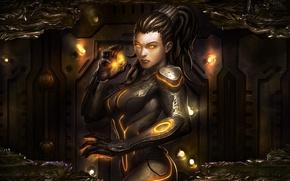 Картинка Сара, StarCraft II, Кериган, Heart of the Swarm