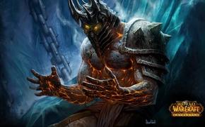 Картинка магия, доспехи, шлем, трон, warcraft