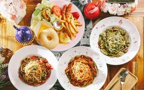 Картинка чайник, овощи, блюда, картофель, ассорти, паста