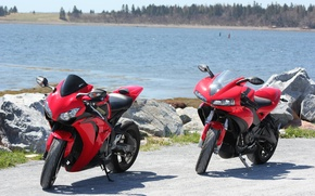 Картинка красный, мотоциклы, red, суперспорт, honda, хонда, supersport, buell, bikes, cbr1000rr, сибиар, бьюэлл, 1125r