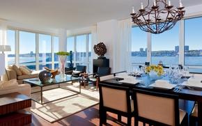 Обои дизайн, стиль, комната, интерьер, мегаполис