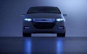 Обои свет, машины, lights, фары, honda, box, хонда