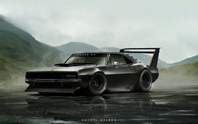 Обои Dodge, ART, khyzyl saleem, Charger