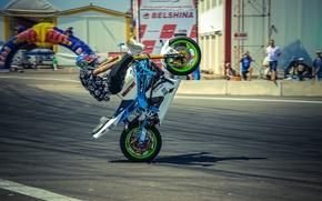 Картинка шлем, moto, трюки, PItBike