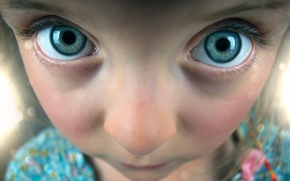 Картинка глаза, взгляд, лицо, девочка