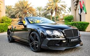 Картинка черный, Bentley, Continental, кабриолет, бентли, континенталь, Startech