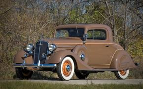 Картинка vintage, retro, brown, old, nice, old car, veteran, heritage