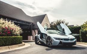 Картинка особняк, electric, hybrid, silvery, BMW i8