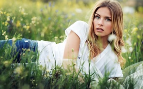 Картинка лето, взгляд, девушка, портрет, Melani Gellert